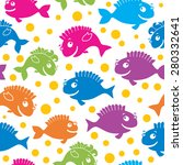 fish seamless pattern | Shutterstock .eps vector #280332641