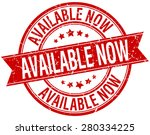 available now grunge retro red... | Shutterstock .eps vector #280334225