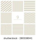 seamless geometric pattern set