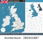 united kingdom infographic map  ... | Shutterstock .eps vector #280341887