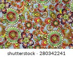 macro bright floral pattern on... | Shutterstock . vector #280342241