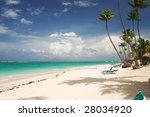 beautiful caribbean beach in... | Shutterstock . vector #28034920