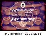 typographic design on blurred... | Shutterstock .eps vector #280352861