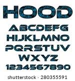 decorative font  | Shutterstock .eps vector #280355591