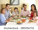 extended hispanic family... | Shutterstock . vector #280356731