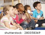 group of elementary age... | Shutterstock . vector #280358369