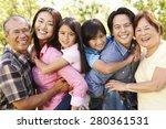 portrait multi generation asian ... | Shutterstock . vector #280361531