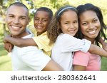 young african american family... | Shutterstock . vector #280362641