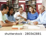 mature students working in... | Shutterstock . vector #280362881