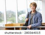 teenage student boy indoors | Shutterstock . vector #280364015