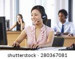 friendly customer service agent ... | Shutterstock . vector #280367081