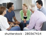 meeting of support group | Shutterstock . vector #280367414