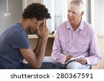 young man having counselling... | Shutterstock . vector #280367591