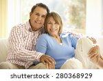 senior hispanic couple relaxing ... | Shutterstock . vector #280368929