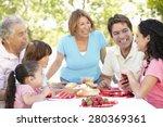 three generation hispanic... | Shutterstock . vector #280369361
