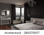 Dark Expensive Bedroom With...