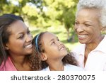 african american grandmother ... | Shutterstock . vector #280370075