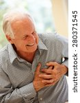 Small photo of Senior man with chest pain