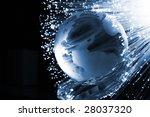 fiber optics background with... | Shutterstock . vector #28037320