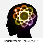 vector head atom icon. yellow... | Shutterstock .eps vector #280376411