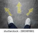 decisions  high angle view of... | Shutterstock . vector #280389881