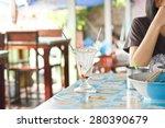 empty cup of ice cream in... | Shutterstock . vector #280390679