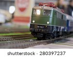 Close Up About Model Train On...