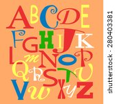 colorful alphabet. | Shutterstock .eps vector #280403381