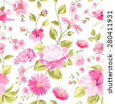 floral wedding pattern for... | Shutterstock .eps vector #280411931
