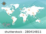 image of a world map    Shutterstock . vector #280414811