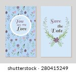set of save the date card and... | Shutterstock .eps vector #280415249