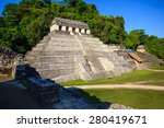 ancient ruins in the mayan city ... | Shutterstock . vector #280419671