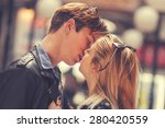 couple loving each other... | Shutterstock . vector #280420559