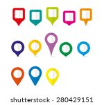 vector pin map icon mark symbol ... | Shutterstock .eps vector #280429151