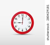 vector wall analog clock red 12 ... | Shutterstock .eps vector #280429181
