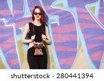 beautiful redhead women with... | Shutterstock . vector #280441394