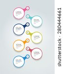 timeline simply round template. ... | Shutterstock .eps vector #280444661