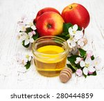 apples with honey and apple... | Shutterstock . vector #280444859
