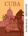 welcome to cuba retro poster. | Shutterstock .eps vector #280451024