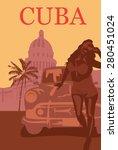 welcome to cuba retro poster. | Shutterstock .eps vector #280451024