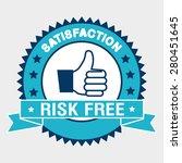 risk free design over white... | Shutterstock .eps vector #280451645
