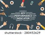 vector key performance... | Shutterstock .eps vector #280452629