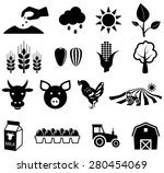 agriculture icons  vector... | Shutterstock .eps vector #280454069