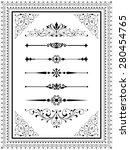 ornament set   set of vector... | Shutterstock .eps vector #280454765