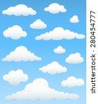 cloud element set   set of... | Shutterstock .eps vector #280454777