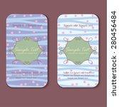 vector card templates. perfect... | Shutterstock .eps vector #280456484