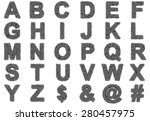 Alphabet Of Gray Of Letters...