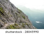 cable guided hiking path in... | Shutterstock . vector #28045990