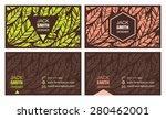 business card set | Shutterstock .eps vector #280462001