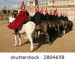 Horse Guards Men On Parade In...